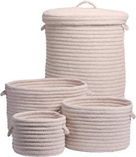 """product image for Colonial Mills Dre 4-Piece Basket Set, 10""""x10""""x7""""/12""""x12""""x9""""/14""""x14""""x10""""/16""""x16""""x20"""", Natural"""