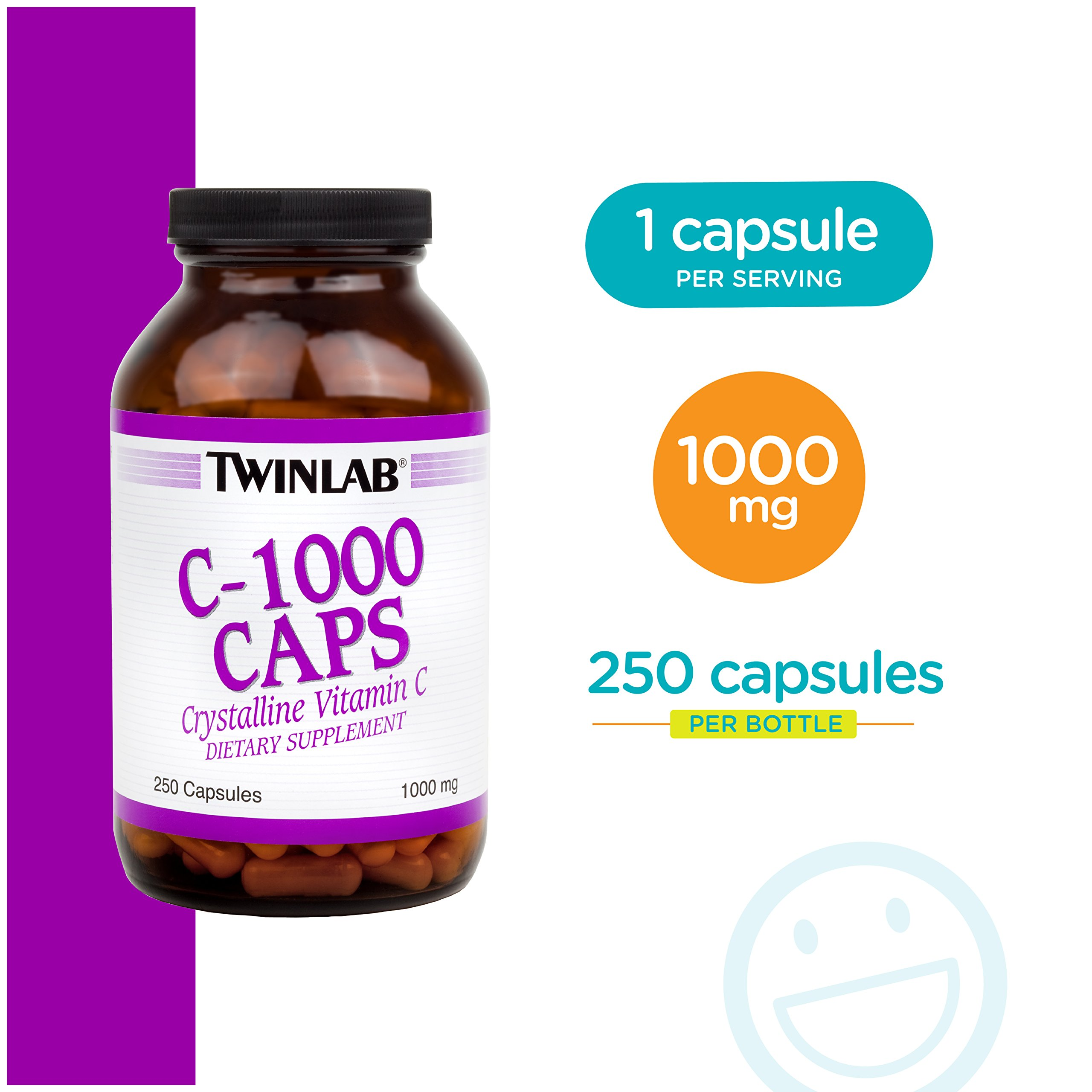 Twinlab C-1000 Caps, 1000mg, 250 Capsules (Pack of 2) by Twinlab (Image #6)