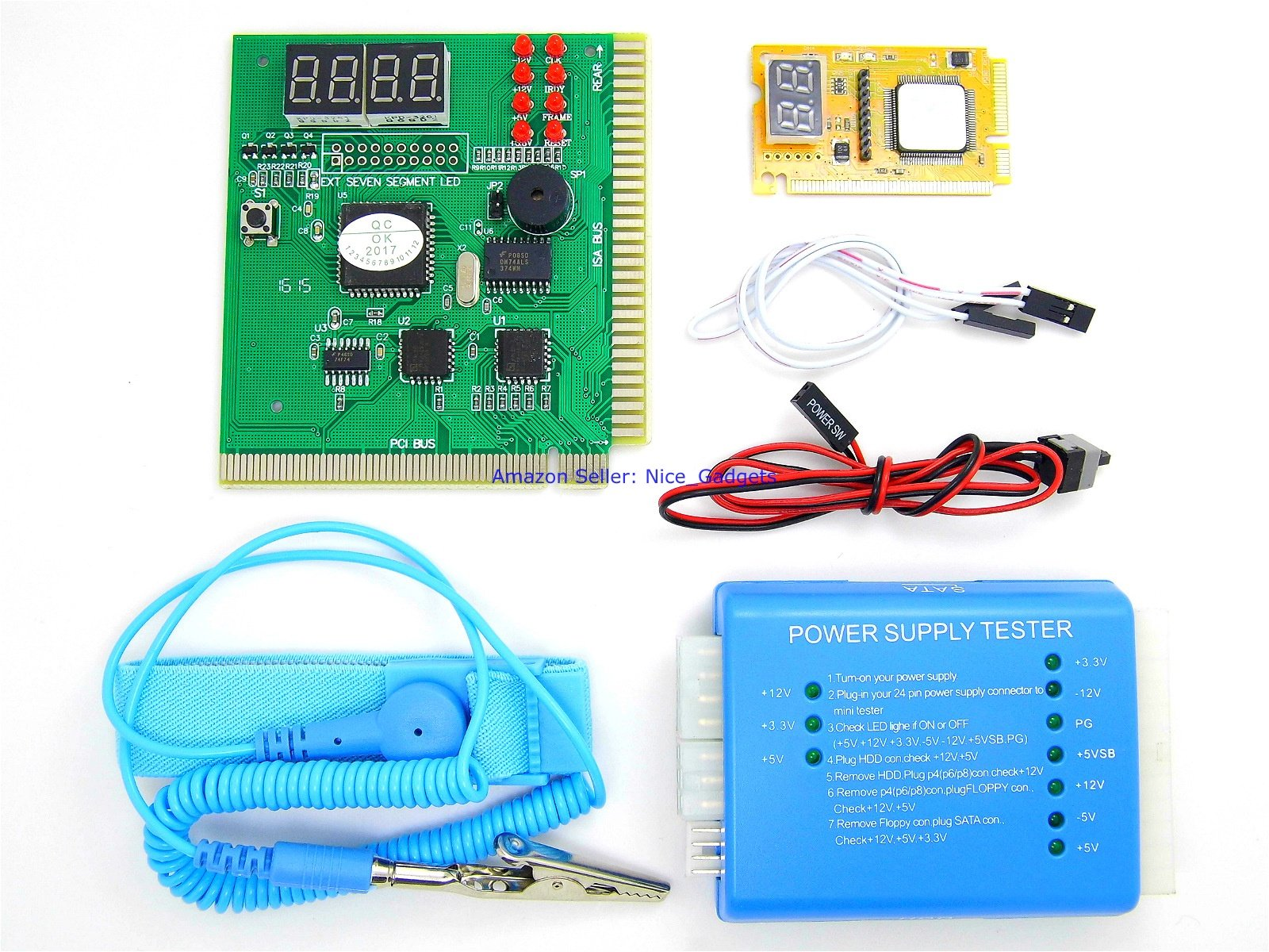 New Desktop PC and Laptop Computer Motherboard Power Diagnostic Analyzer Post Test Starter Kit by PcTestCard