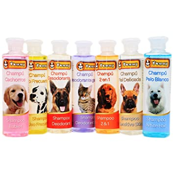 YOMMY® Champú Mascotas Shampoo Pets para Perros Gatos 250 mL con diferente efectos YM-1147(Champú Piel Delicada): Amazon.es: Deportes y aire libre