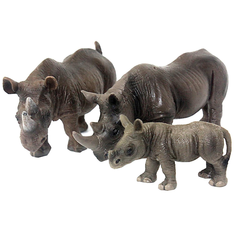 Rhinoceros Toy Figurine Educational Realistic Plastic Wild Animal Figure TO Kids