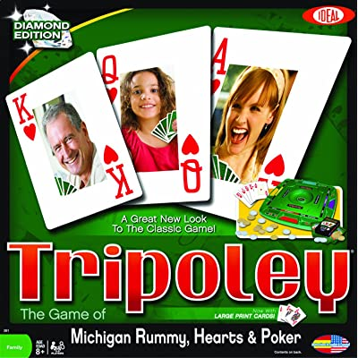 Ideal Tripoley Diamond Edition Card Game: Toys & Games