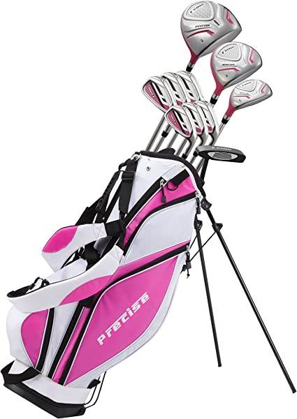 Amazon Com Precise Premium Ladies Womens Complete Golf Clubs Set Includes Driver Fairway Hybrid S S 5 Pw Irons Putter Stand Bag 3 H C S Sports Outdoors