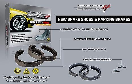 Dash4 B657 Bonded Style Brake Shoes