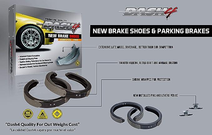 Dash4 B280 Bonded Style Brake Shoes