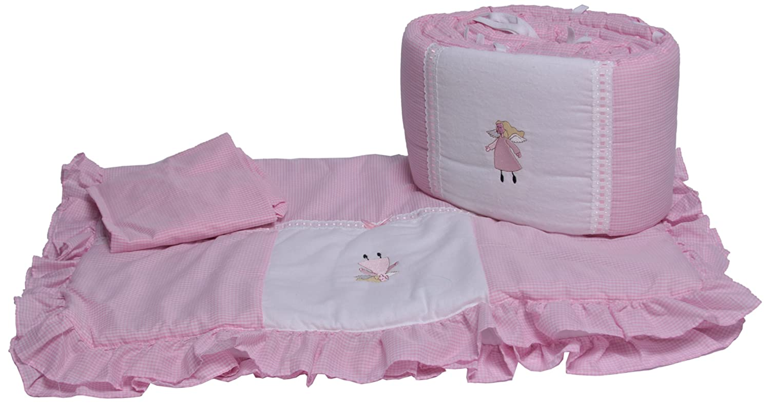 Baby Doll Bedding Gingham Cradle Bedding Set, Pink by BabyDoll Bedding   B004R1PP0S