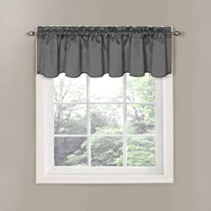 Eclipse 14342042X021CHR Canova 42-Inch by 21-Inch Blackout Window Valance, Charcoal