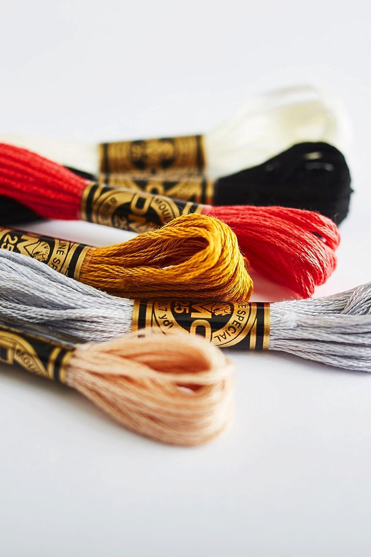 Bulk Buy DMC Thread Six Strand Embroidery Cotton 8.7 Yards Medium Garnet 117-815 12-Pack