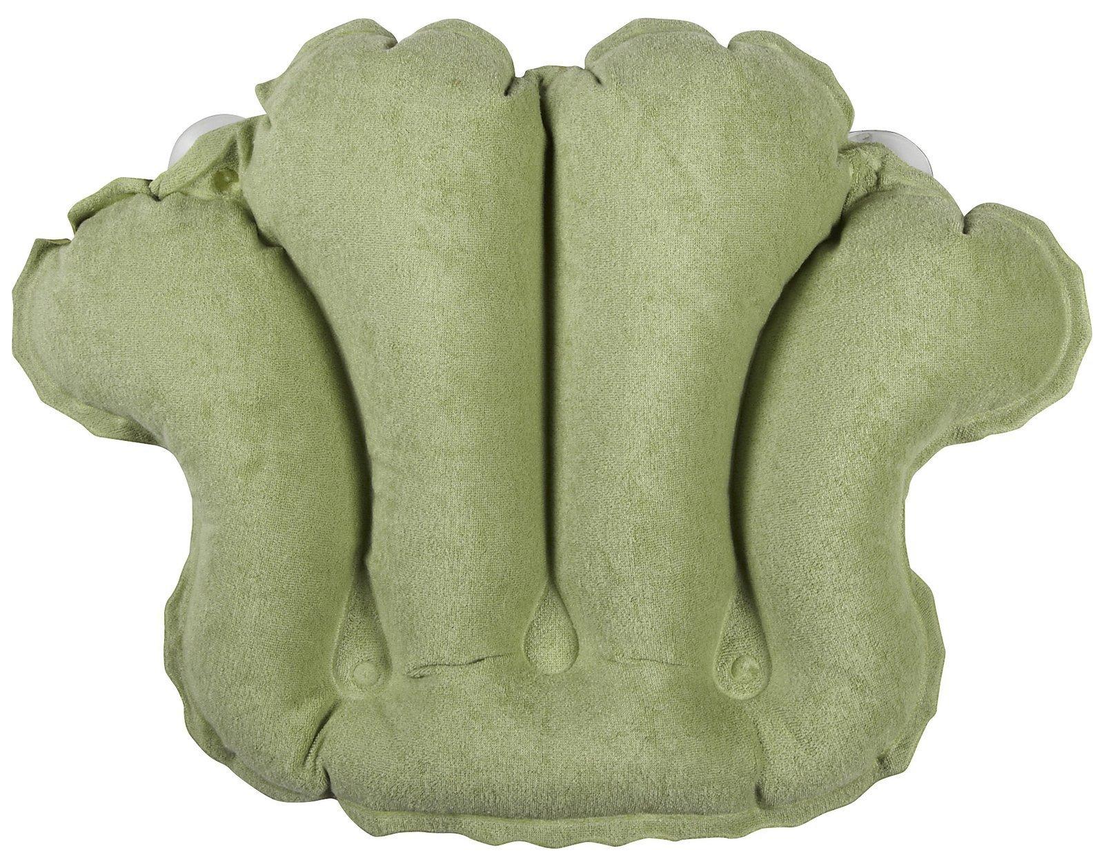 Bath Accessories Terry Bath Pillow, Celery