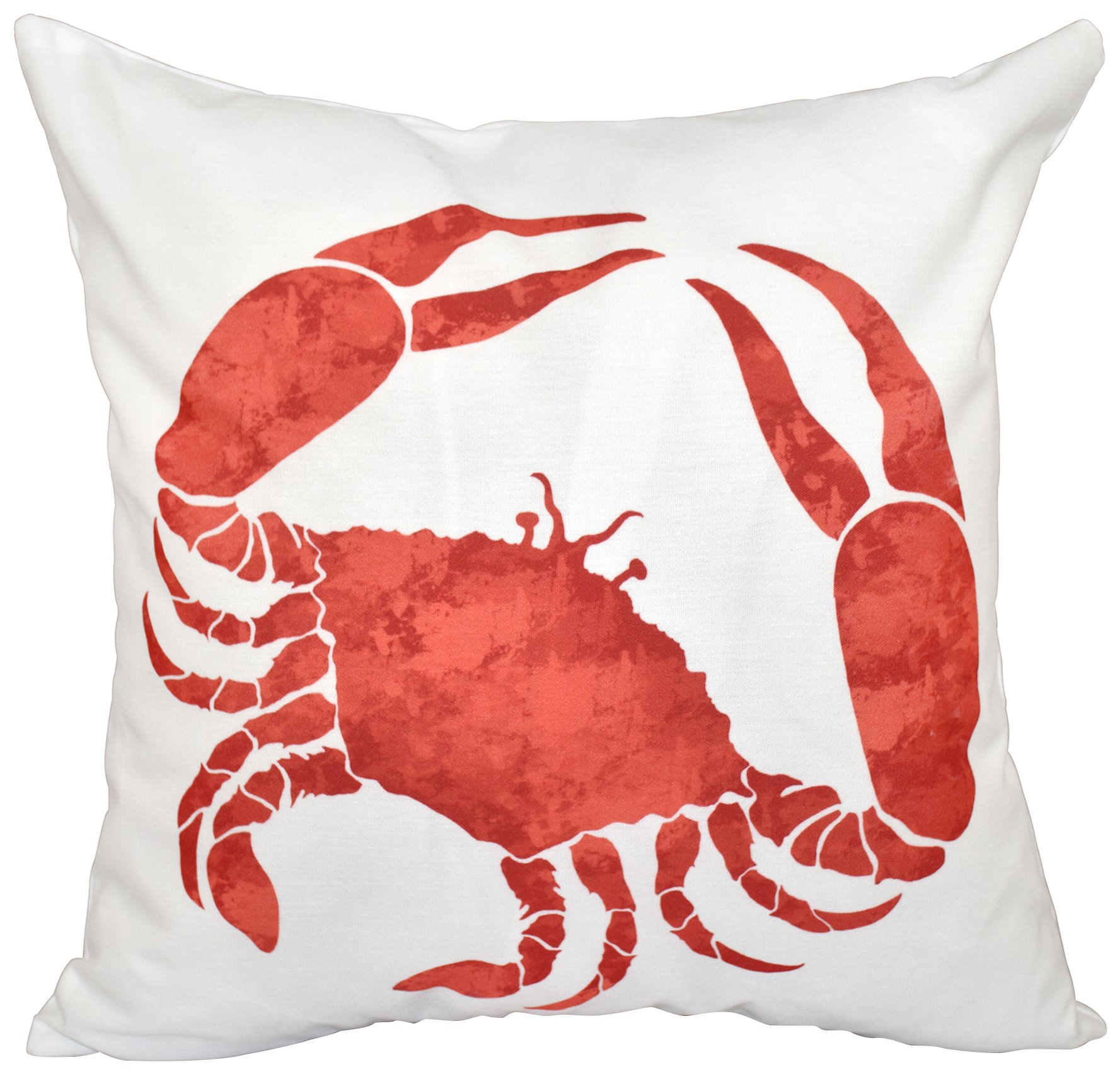 E by design O5PAN467OR15-20 20 x 20 Crab Animal Print Red/Orange Outdoor Pillow