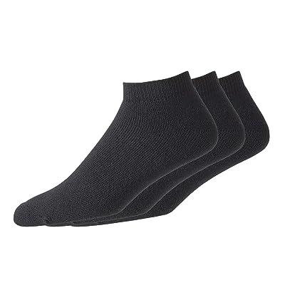 .com : FootJoy Men's ComfortSof Sport 3-Pack Socks Black Size 7-12 : Golf Equipment : Clothing