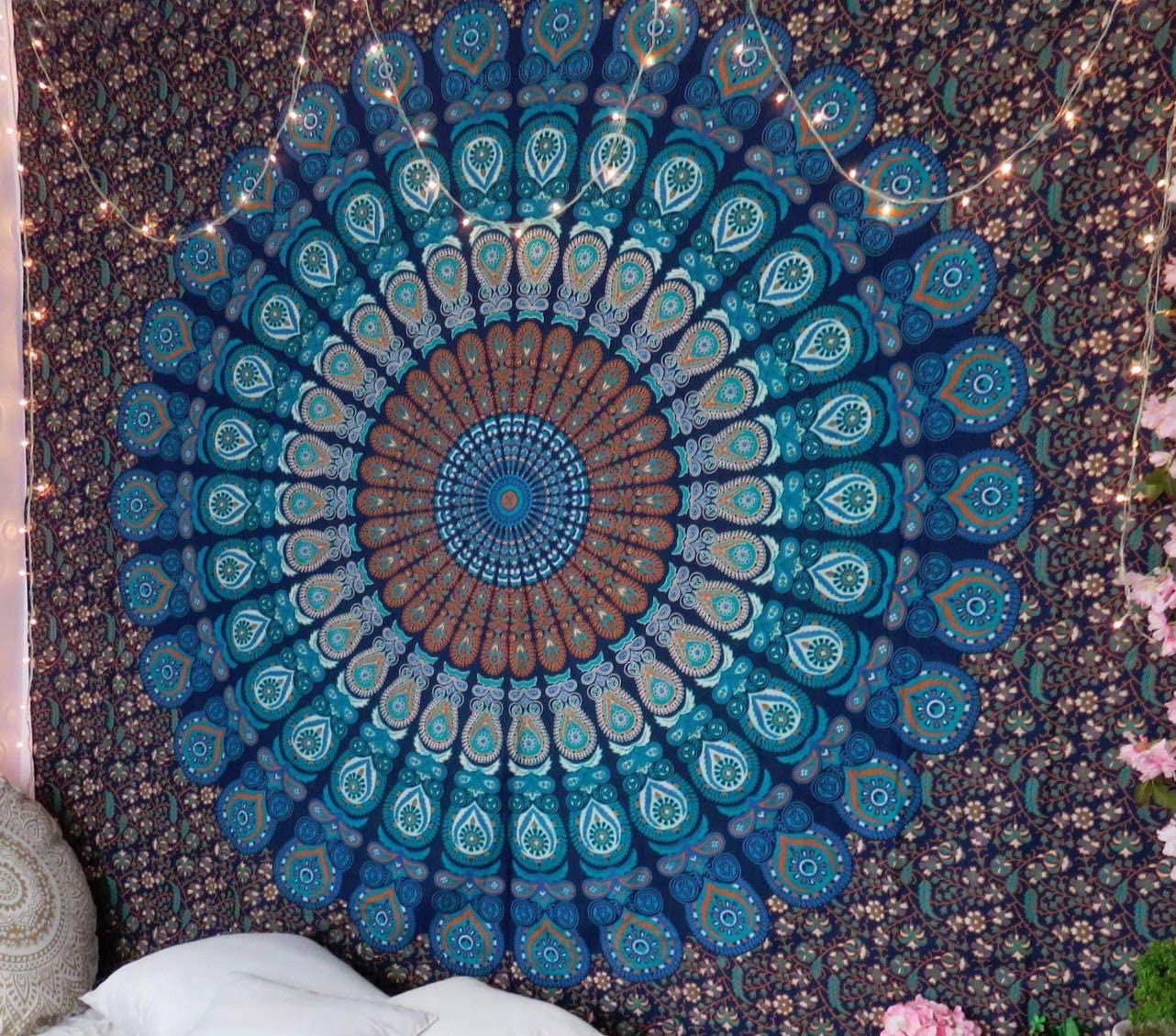 Indian Queen Size Mandala Tapestry Hippie Wall Hanging Bohemian Bedspread Throw