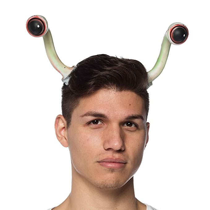 Largemouth Adult Space Alien Invader Antenna Eye Headband Accessory