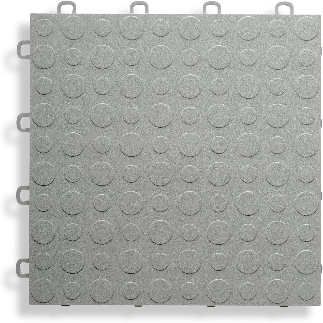 Coin Top 30 Pack MODUTILE Interlocking Modular Garage Flooring Tile Gray