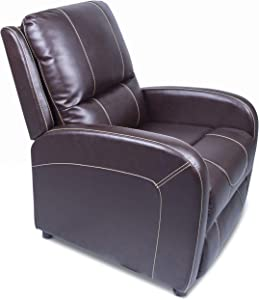 THOMAS PAYNE 380396 Jaleco Chocolate Manual Pushback Recliner | Comfortable Web Suspension