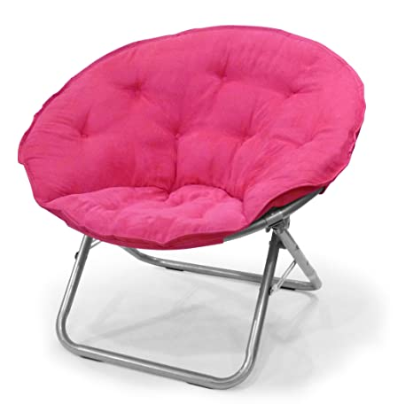 Amazon.com: Urban Shop WK659937 Microsuede Sacuer Chair, Adult, Pink ...
