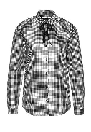 armedangels Damen Bluse Aus Bio-Baumwolle - Ilya Mini Checks - XS Black-Off