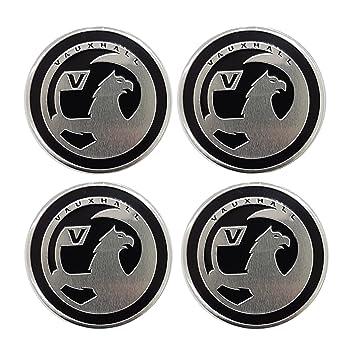 Centro Vauxhall Emblema rueda del casquillo de la etiqueta engomada del logotipo de la insignia Ribetes ruedas 55mm: Amazon.es: Coche y moto
