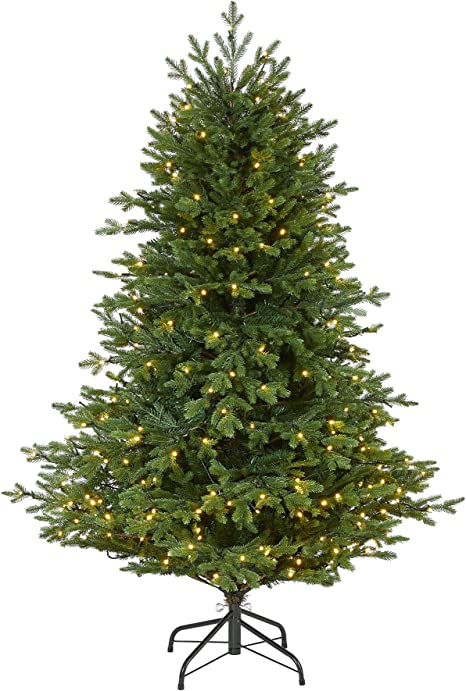 Nearly Natural 5ft Wyoming Spruce Artificial Christmas Tree With 300 Clear Led Lights And 773 Bendable Branches Green Home Kitchen
