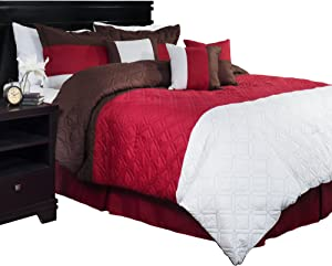 Lavish Home 7-Piece Layla Comforter Set, King