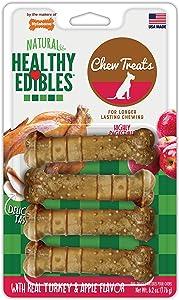 Nylabone Healthy Edibles All-Natural Long Lasting Turkey & Apple Dog Chew Treats