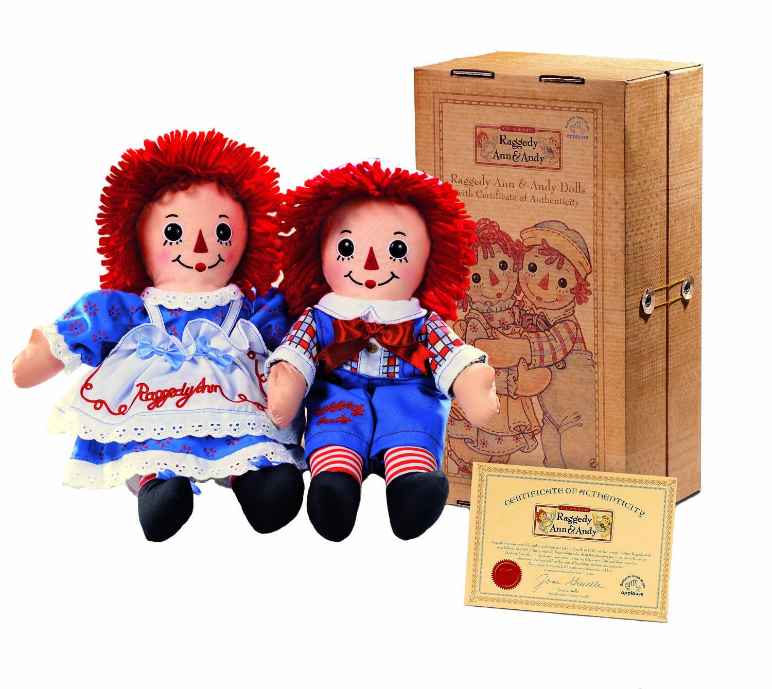 Amazoncom 12 Raggedy Ann and Andy Collectors Set Toys Games