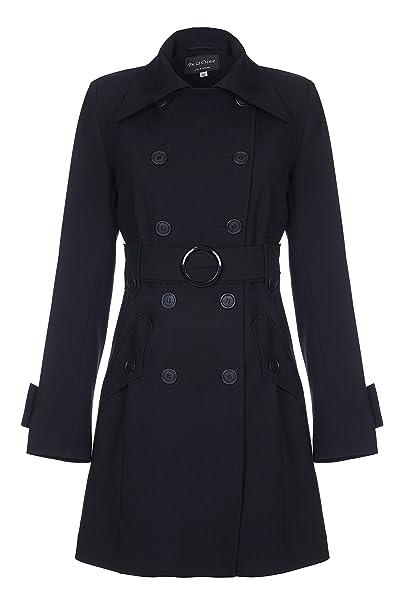 große Auswahl an Farben authentische Qualität großer Diskontverkauf De LA Creme - Women`s Spring Belted Trench Coat: Amazon.co ...