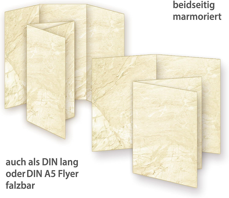 Karton Pergamentpapier A4 100 Stück 170g Marmorpapier beidseitig