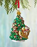 Christopher Radko Wrappin' Around Glass Christmas Ornament 2014
