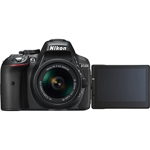 Nikon D5300 DSLR Camera in Black with 18-55mm AF-P VR Lens
