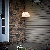 Brightech Aura LED Tall Outdoor Standing Floor Lamp – Sturdy, Weatherproof, Modern Design – Plastic Light Diffusing Shade - Ambient Light for Porch Patio Garden