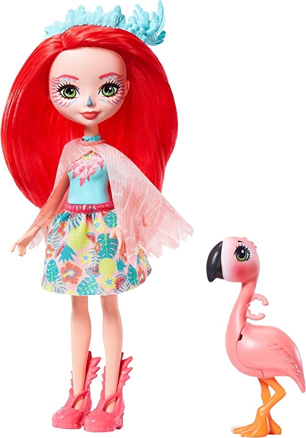 Enchantimals GFN42 Fanci Flamingo Doll (6-in) & Swash Animal Friend Figure, Multicolour,Mattel,GFN42