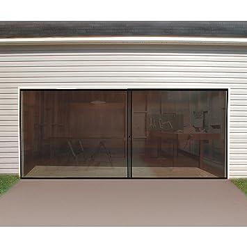 Protector de puerta de garaje doble - 16 pies. X 7 pies. Cierre magnético Base Lastrada mantener insectos insectos plagas fuera fácil de entrada: Amazon.es: Bricolaje y herramientas
