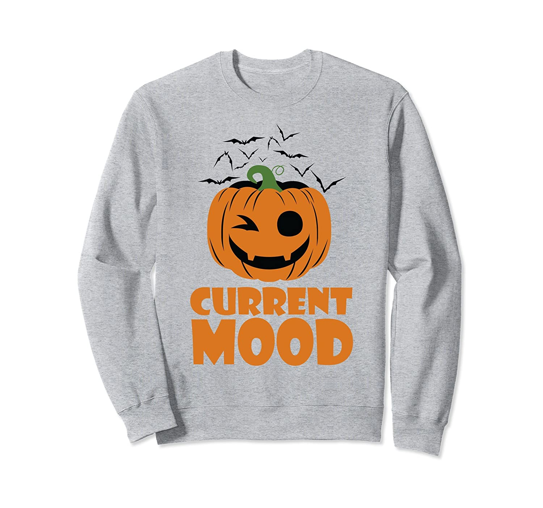 Current Mood Pumpkin Funny Halloween Party Sweatshirt-Rose