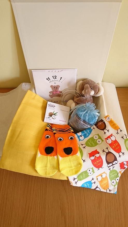 Caja de recuerdos unisex para bebé, regalo de baño, cesta de regalo para baby