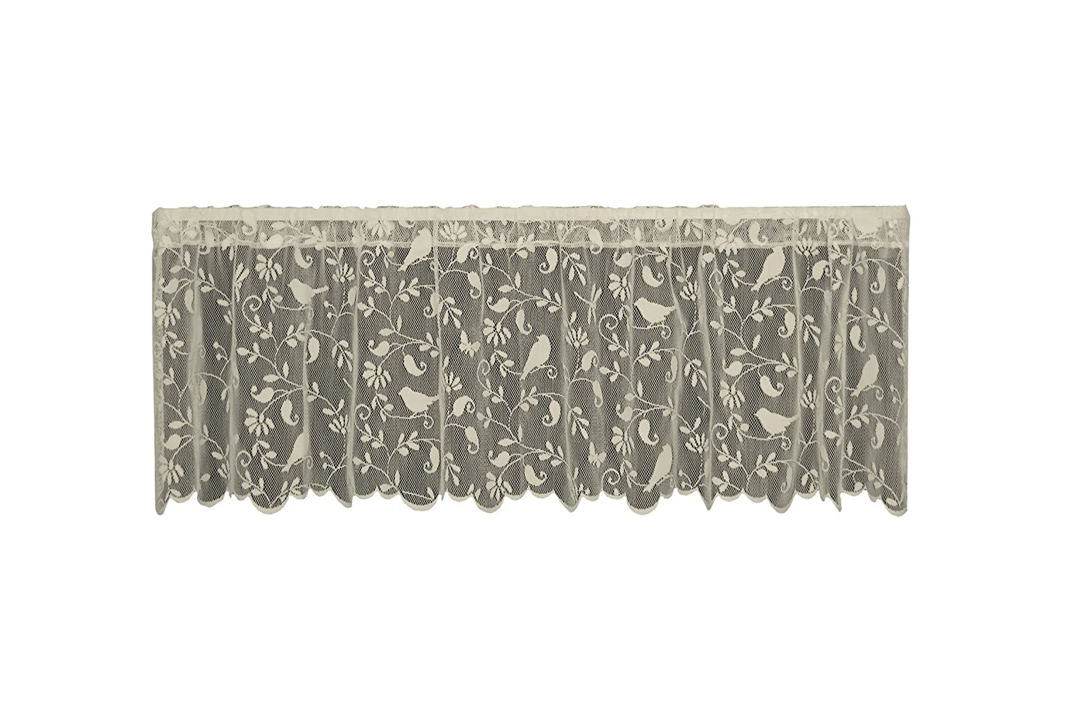Heritage Lace Bristol Garden Valance, 60 by 18-Inch, Cafe 6305C-6018