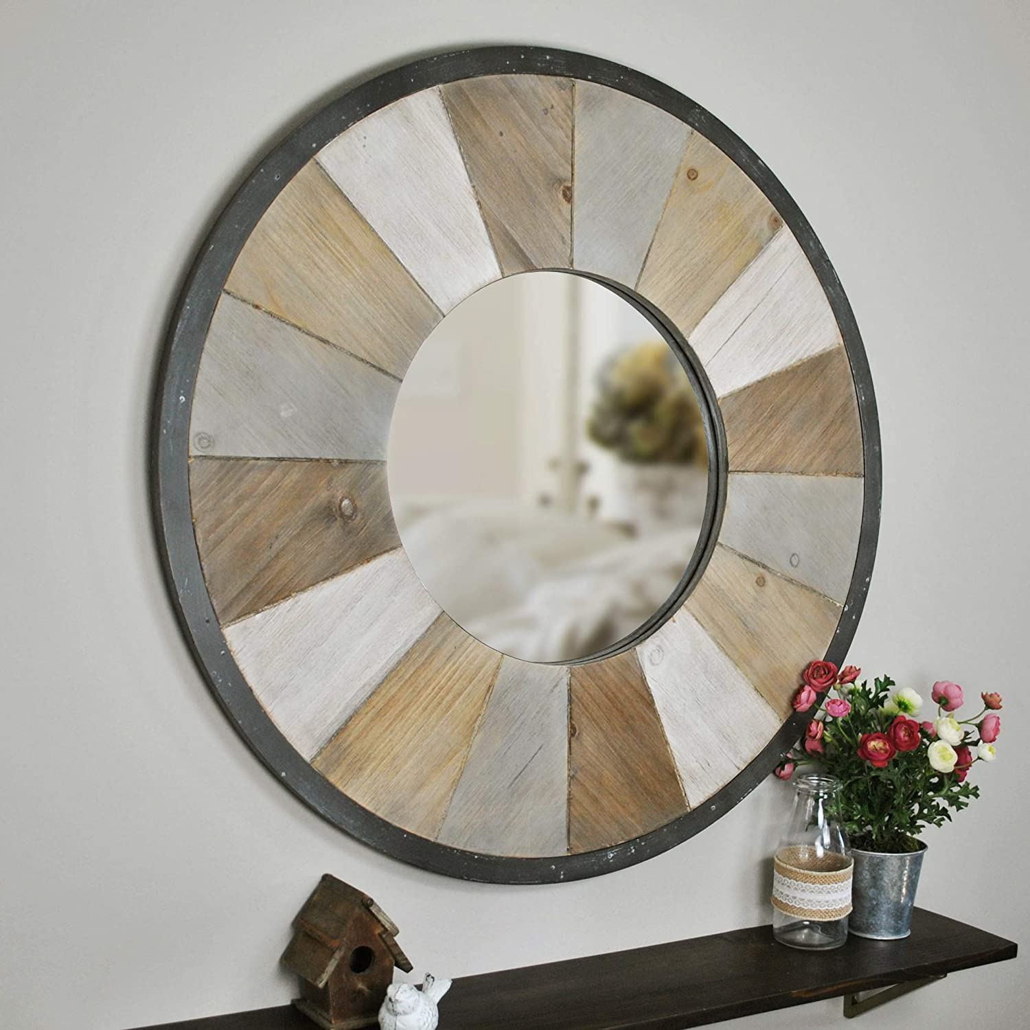 FirsTime & Co. Adler Rustic Wood Mirror, 31.5