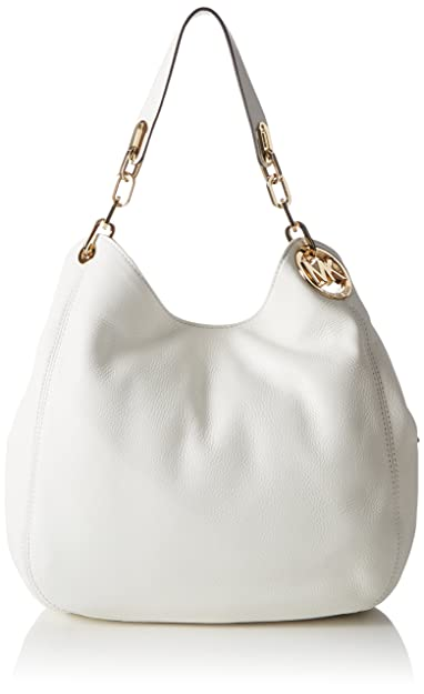 8634b737df Michael Kors Women 30H3GFTE3L Hobos and Shoulder Bag White (Optic White)