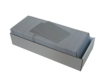 Plastikkarten Silber Metallic 1 1 Premium Pvc Plastikkarte