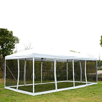 Outsunny 10u0027 x 20u0027 Pop-Up Canopy Shelter Party Tent with Mesh Walls  sc 1 st  Amazon.com & Amazon.com : Outsunny 10u0027 x 20u0027 Pop-Up Canopy Shelter Party Tent ...