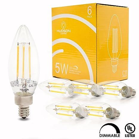 Candelabro de filamentos led bombillas