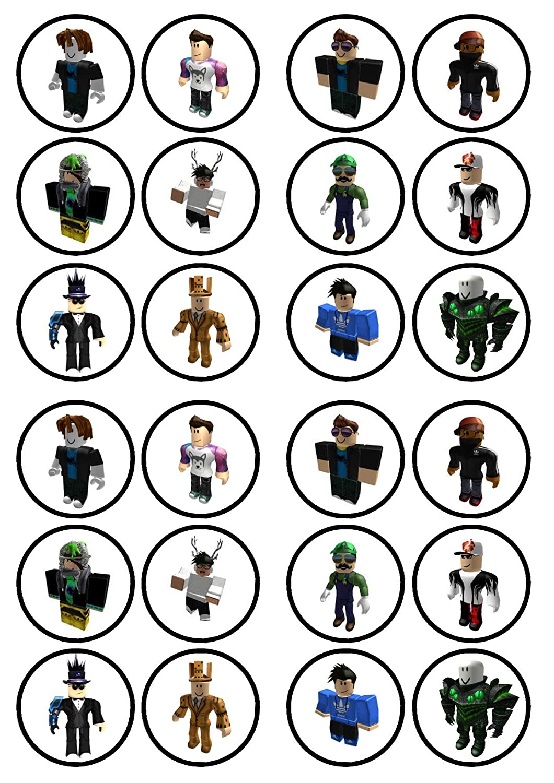 Roblox Boy Caracteres # 3comestible Premium de grosor edulcorados vainilla, oblea Rice Paper Cupcake Toppers/adornos