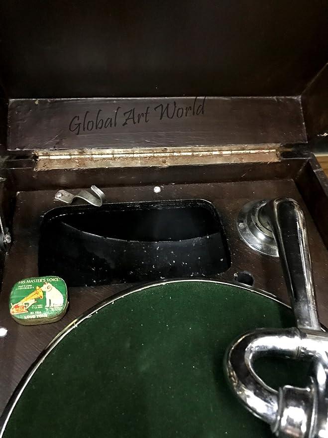 Global Art mundo antiguo Tocadiscos bonito hecho a mano Vintage ...