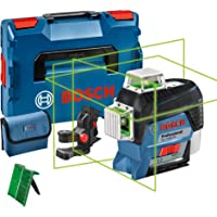 Bosch Professional 12V System bouwlaser GLL 3-80 CG (zonder accu en oplader, groene laser, binnenafwerking, met…