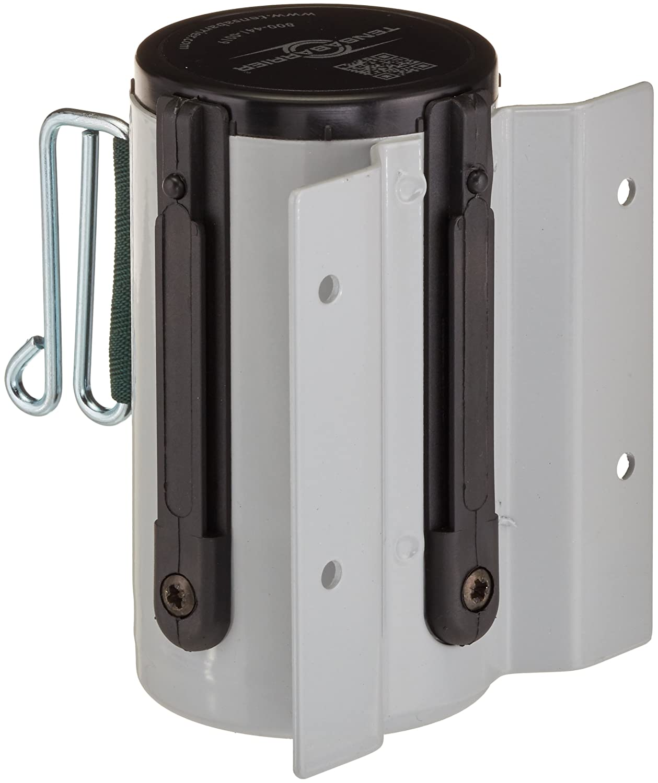 13 L Dark Green Belt Tensabarrier 896-STD-92-MAX-NO-G7X-A Standard Mount Wall Unit with Wire Clip Belt End 3.75 W 2 Wide Dove Gray 4.5 H 2.75 L