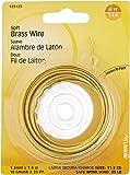Hillman Fasteners 123123 Soft Brass Wire 16 Gauge 1.6MM By 25-Feet