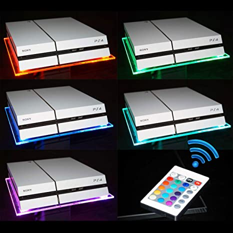 RGB LED USB Diseño Acrílico plexiglás untersätzer Soporte para tablet para PS4 Playstation 4 PS3 (también Slim o Pro o Xbox One/S/X Scorpio etc.): Amazon.es: Hogar