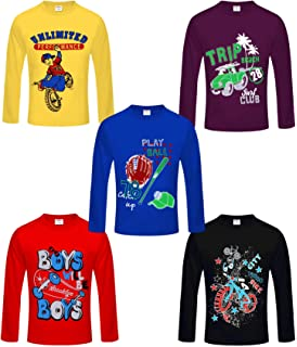 e8fe46dfa43 Kiddeo Boy s Cotton Full Sleeves T-Shirts - Pack of 6  Amazon.in ...