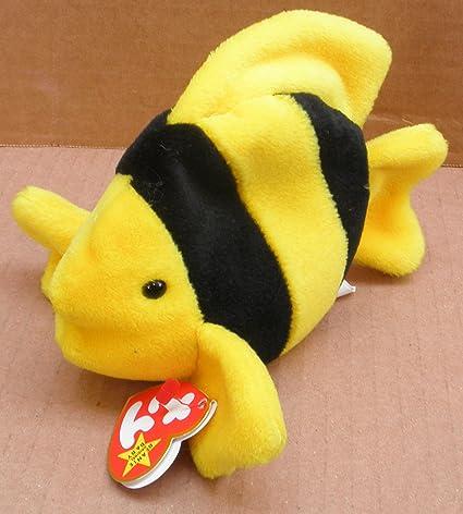 80f311cf83e Amazon.com  TY Beanie Babies Bubbles the Fish Plush Toy Stuffed ...
