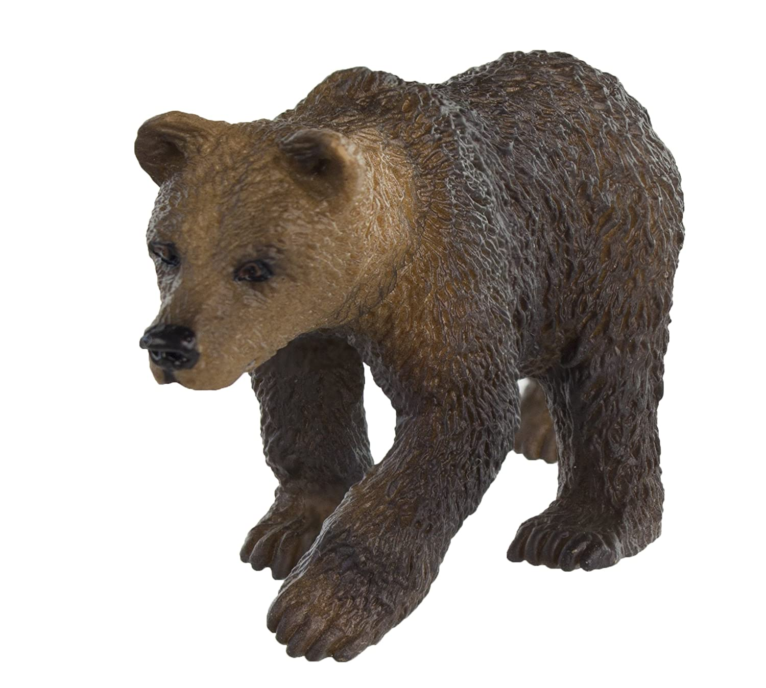 Safari Ltd Wild Safari North American Wildlife - Grizzly Bear Cub - Educational Hand Painted Figurine - Quality Construction from Safe and BPA Free Materials - For Ages 3 and Up by Safari